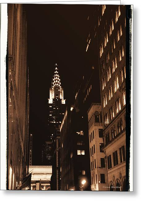 Chrysler Building Greeting Card by Donna Blackhall