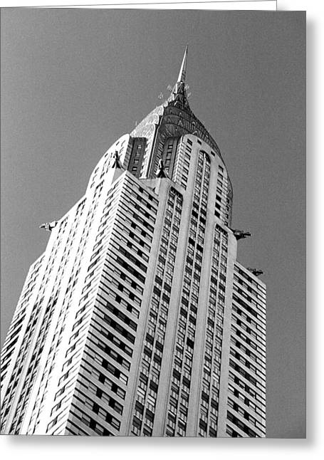 Spire Framed Prints Greeting Cards - Chrysler Building Greeting Card by Liza Dey