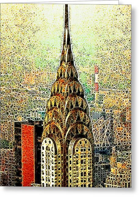 New York Newyork Digital Greeting Cards - Chrysler Building New York City 20130503 Greeting Card by Wingsdomain Art and Photography