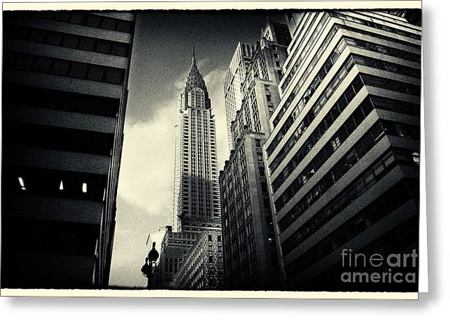 Nyc Greeting Cards - Chrysler Building New York City Greeting Card by Sabine Jacobs