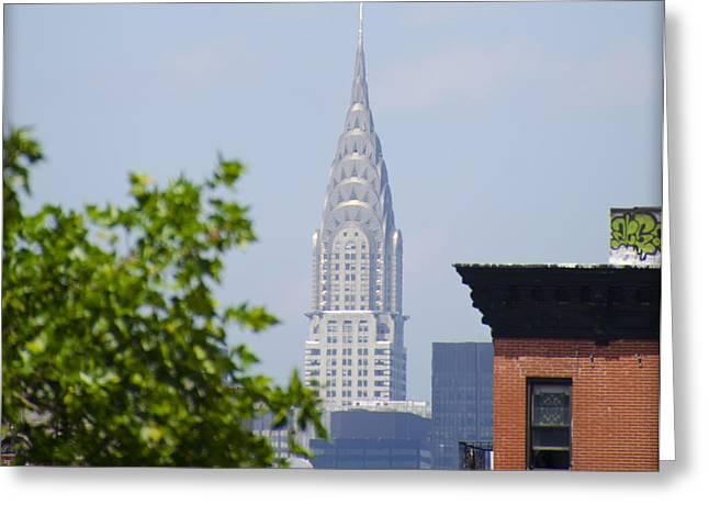 Chrysler Building Digital Art Greeting Cards - Chrysler Building View Greeting Card by Bill Cannon