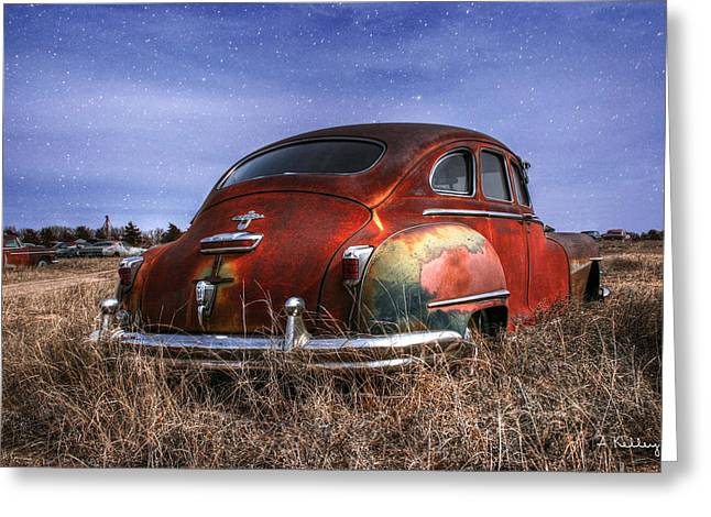 Rusted Cars Greeting Cards - Chrysler Desoto Greeting Card by Andrea Kelley
