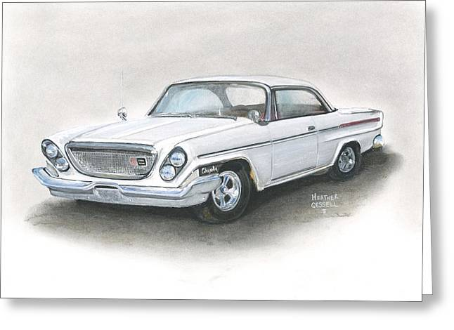 Vintage Pastels Greeting Cards - Chrysler Greeting Card by Heather Gessell