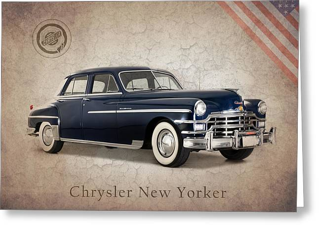 New Yorker Greeting Cards - Chrysler New Yorker 1949 Greeting Card by Mark Rogan
