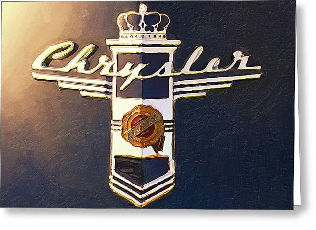 Beautiful Car Greeting Cards - Chrysler Greeting Card by Ron Regalado