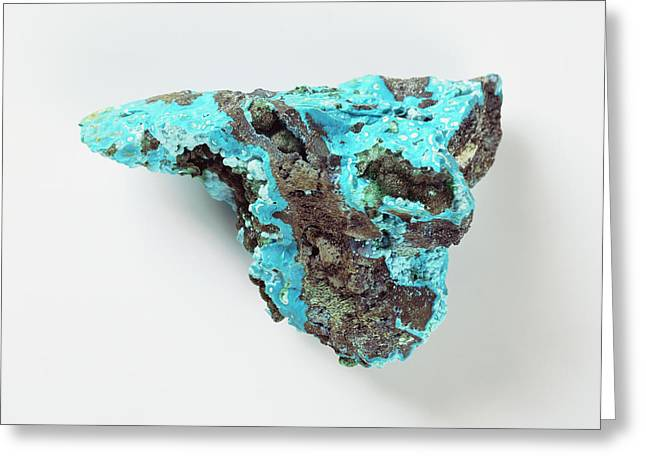 Chrysocolla With Azurite Greeting Card by Dorling Kindersley/uig