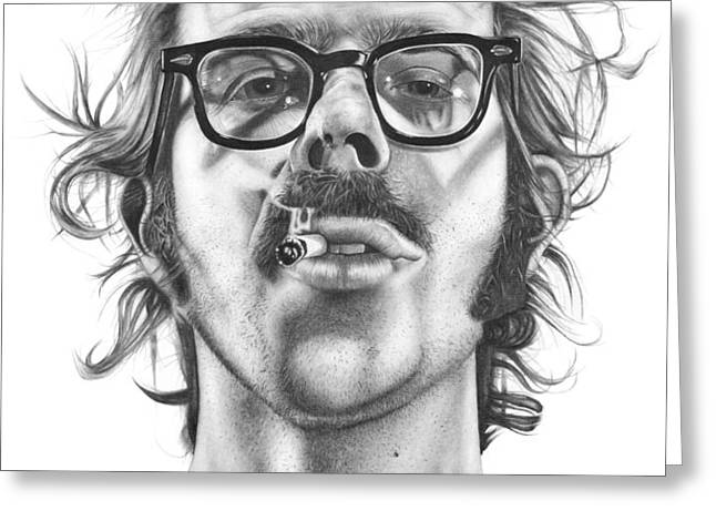 Chuck Close Greeting Card by Kalie Hoodhood