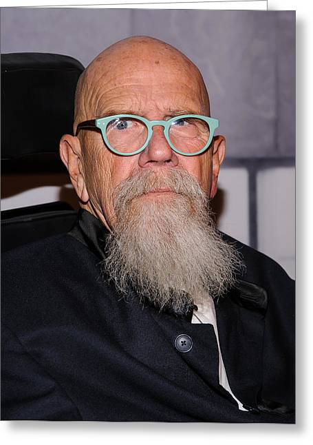 Photorealist Greeting Cards - Chuck Close Portrait Greeting Card by SartorialPhotos Wire Service