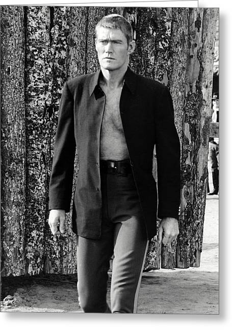 Connors Greeting Cards - Chuck Connors in Branded  Greeting Card by Silver Screen