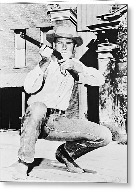 Connors Greeting Cards - Chuck Connors in The Rifleman Greeting Card by Silver Screen