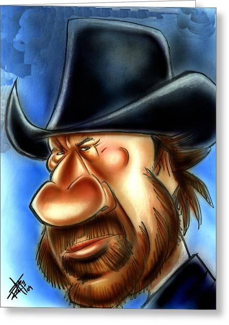 Sidekick Greeting Cards - Chuck Norris Greeting Card by Big Mike Roate