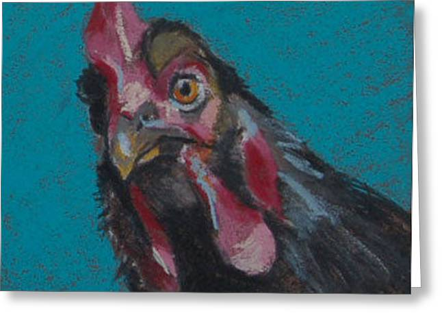 Clucking Greeting Cards - Chuck Greeting Card by Pattie Wall