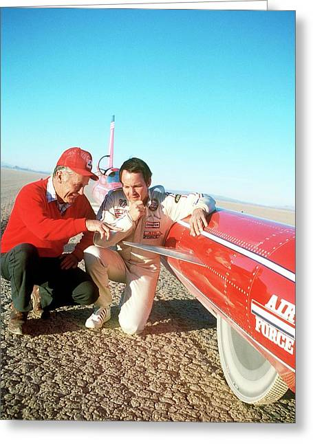 Chuck Yeager And Stan Barrett Greeting Card by Us Air Force