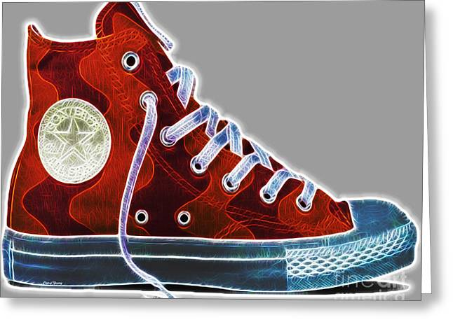 Teen Town Greeting Cards - Chucks Greeting Card by Cheryl Young