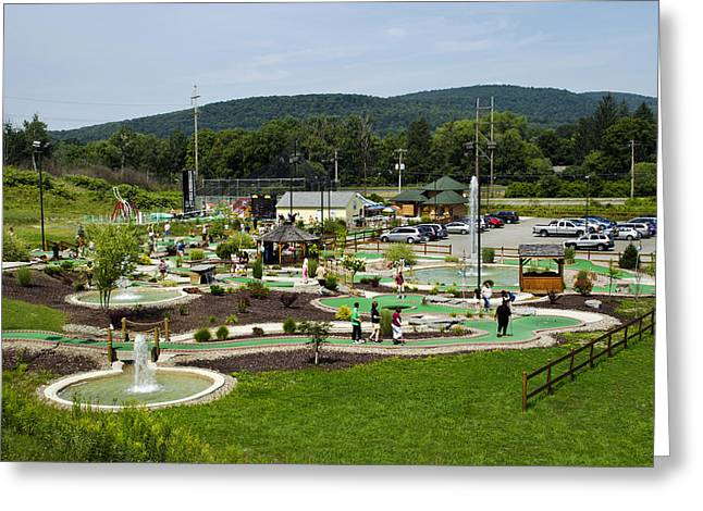Pastimes Greeting Cards - Chucksters Mini Golf Course Greeting Card by Christina Rollo