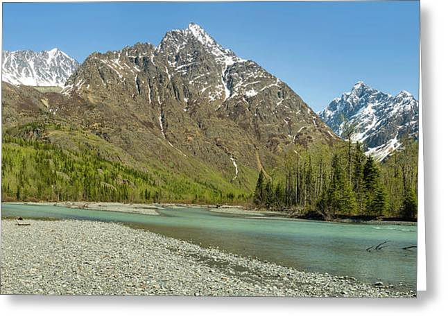 Chugach Mountains And Eagle River Greeting Card by Panoramic Images