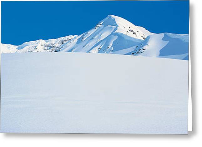Snow Drifts Greeting Cards - Chugach Mountains Girdwood, Alaska, Usa Greeting Card by Panoramic Images