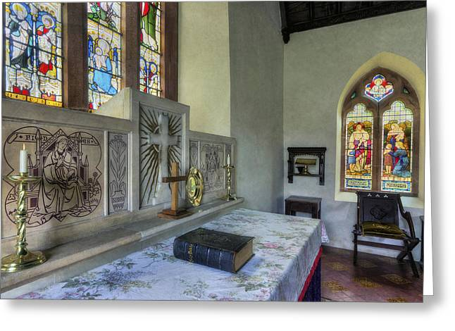Church Altar Greeting Card by Ian Mitchell