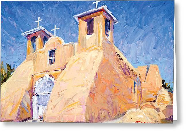 Steven Boone Greeting Cards - Church at Taos Greeting Card by Steven Boone