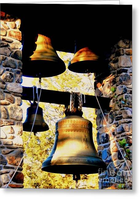 Holy Ring Greeting Cards - Church Bells Greeting Card by Janine Riley