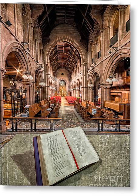 Stones Digital Art Greeting Cards - Church Bible Greeting Card by Adrian Evans