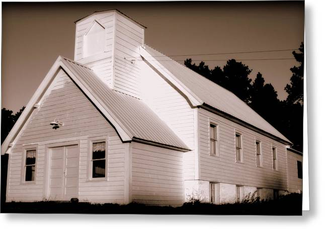 Abandoned School House. Greeting Cards - Church Building Greeting Card by Kerri Huven