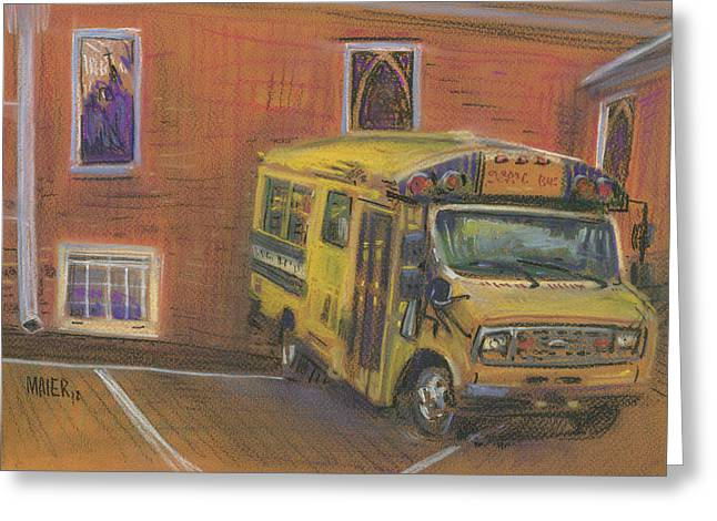 Crossroads Greeting Cards - Church Bus Greeting Card by Donald Maier