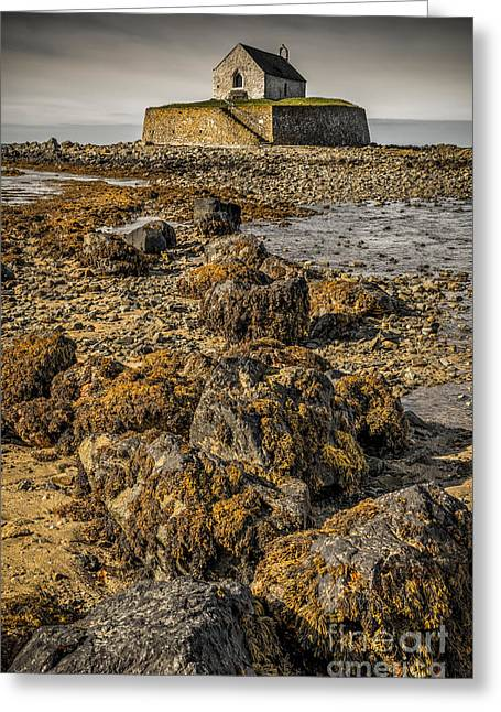 The North Digital Art Greeting Cards - Church by the Rocks Greeting Card by Adrian Evans
