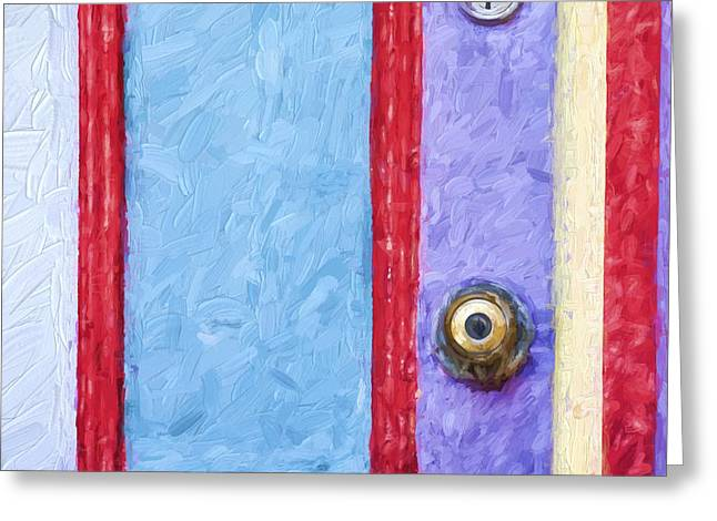Cheery Greeting Cards - Church Camp House Detail Painterly Series 2 Greeting Card by Carol Leigh