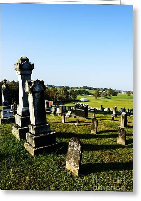 Sutton Greeting Cards - Church Cemetery Greeting Card by Thomas R Fletcher