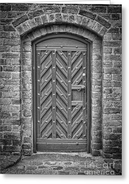 Medieval Temple Greeting Cards - Church Door 02 Greeting Card by Antony McAulay