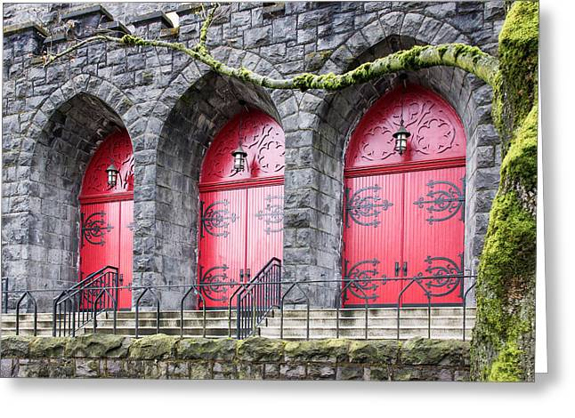 Hardware Greeting Cards - Church Doors Greeting Card by Niels Nielsen