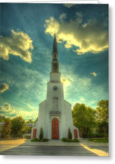 Nashville Greeting Cards - Church Eclipse Greeting Card by  Caleb McGinn