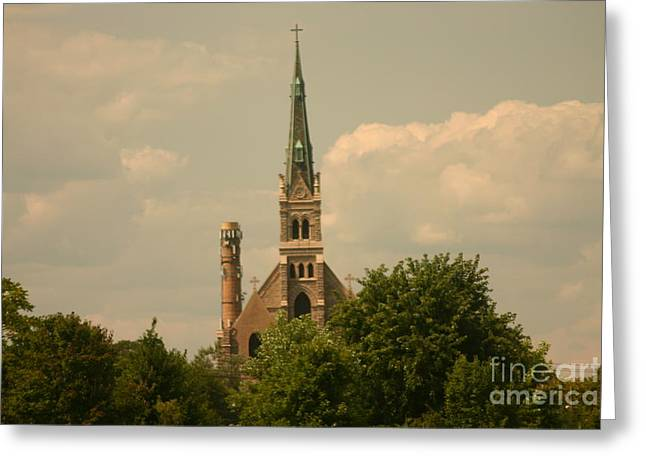 Sea Animals Greeting Cards - Church Greeting Card by Eric Brock