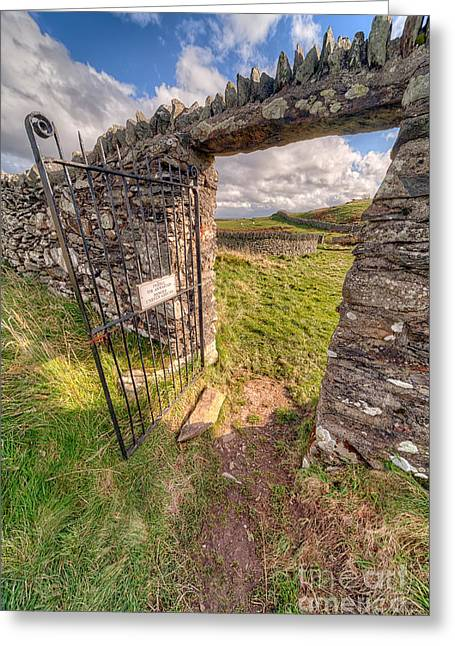 Exits Greeting Cards - Church Gate Greeting Card by Adrian Evans