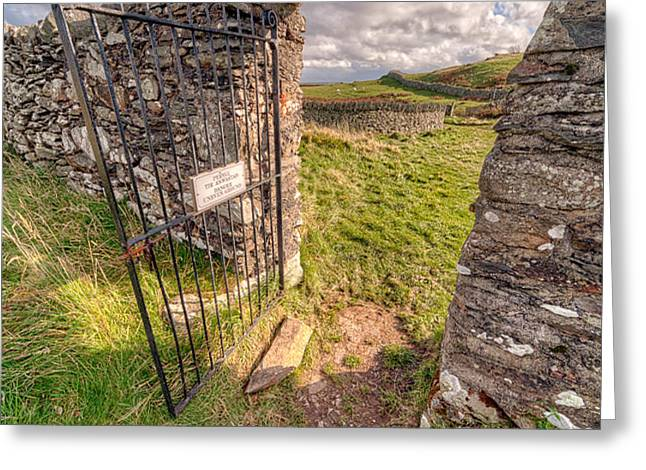 Church Gate Greeting Card by Adrian Evans
