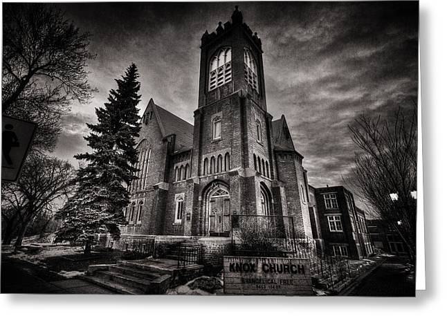 Gothic Trees Greeting Cards - Church Gothic Greeting Card by Ian MacDonald