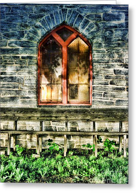 Stone Architecture Greeting Cards - Church Greeting Card by HD Connelly