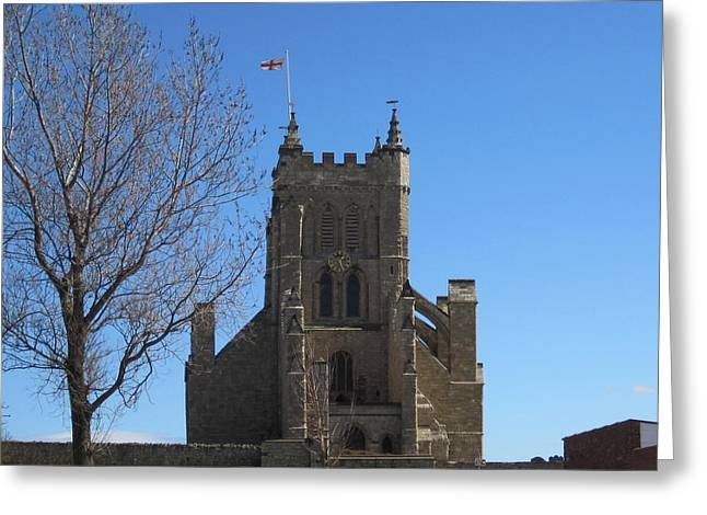 Hartlepool Greeting Cards - Church. Headland. Hartlepool Greeting Card by Peter-hugo Mcclure
