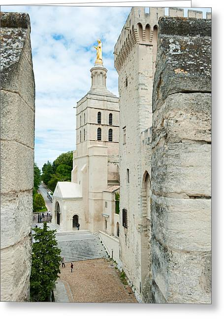 The Church Greeting Cards - Church In A City, Cathedrale Notre-dame Greeting Card by Panoramic Images