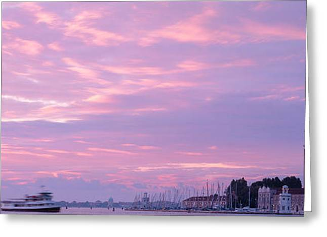 Mode Of Transport Greeting Cards - Church In A City, San Giorgio Maggiore Greeting Card by Panoramic Images