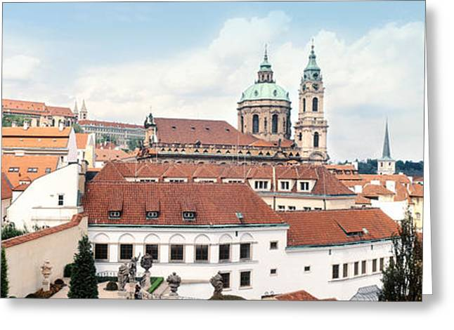 Nicholas Greeting Cards - Church In A City, St. Nicholas Church Greeting Card by Panoramic Images