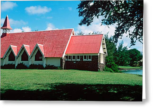 Mauritius Greeting Cards - Church In A Field, Cap Malheureux Greeting Card by Panoramic Images