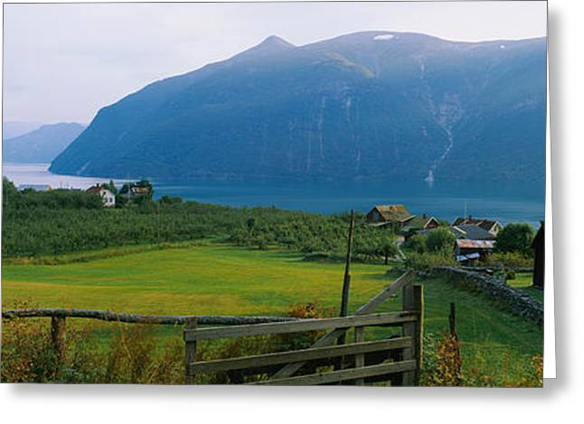 Norway Village Greeting Cards - Church In A Village, Urnes Stave Greeting Card by Panoramic Images