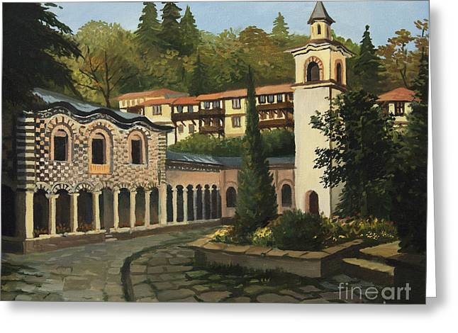 Church in Blagoevgrad Greeting Card by Kiril Stanchev