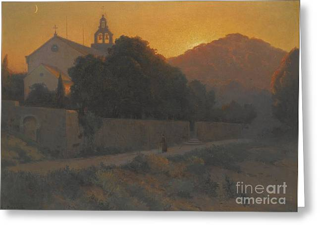Slavic Greeting Cards - Church In Dubrovnik Greeting Card by Celestial Images