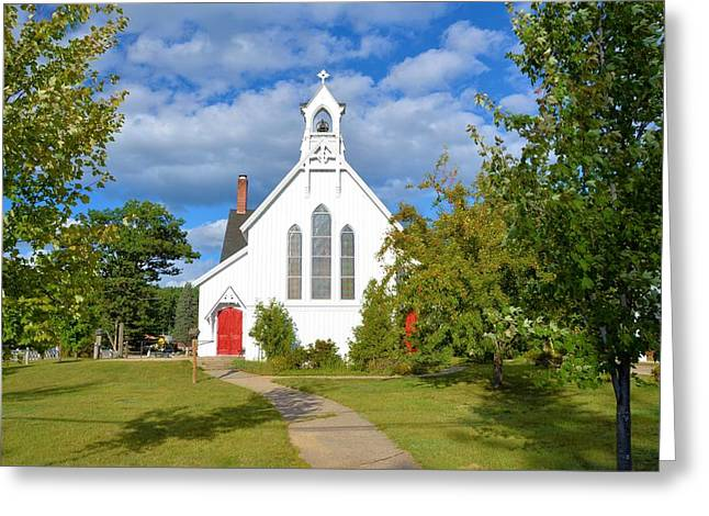 Church In New Hampshire Greeting Card by Richard Jenkins