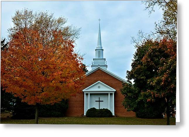 Church In Rochester Greeting Card by Richard Jenkins
