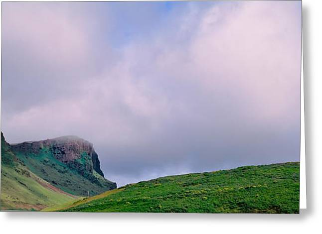 Overcast Day Greeting Cards - Church In The Landscape, Vik I Myrdal Greeting Card by Panoramic Images