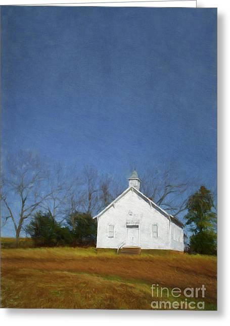 Eureka Springs Greeting Cards - Church in the suburbs of Eureka Springs  Arkansas Greeting Card by Elena Nosyreva